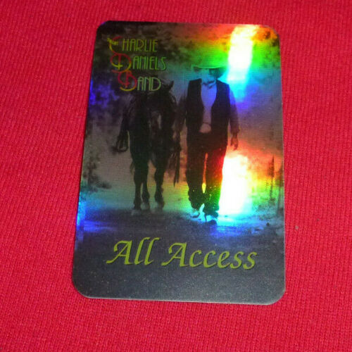 Charlie Daniels Band All Access Unused Backstage Pass