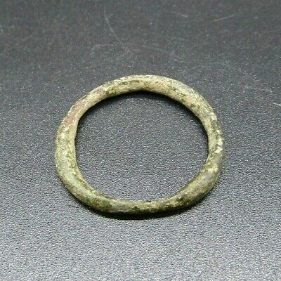 Authentic British found Viking bronze finger ring, 8th-11th century ad