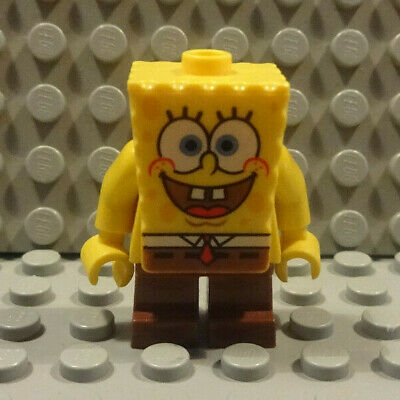 (A6/4 - 4) Lego 1x bob001 Spongebob Mini Figurine 3825 3827 3830 Used KG