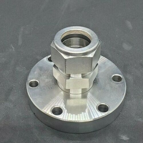"""Conflat 2.75"""" To Swagelok 0.75 Adapter Used Good Condition"""