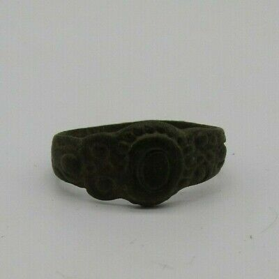 Authentic Jacobean copper alloy ring, 17th century ad, British found