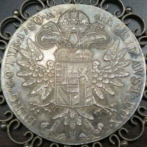 Stunning Antique 19th Century Austrian Maria Theresia Thaler Silver Coin Pendant