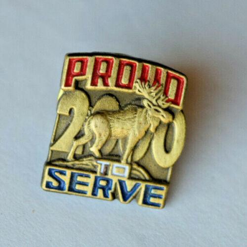 Vintage Proud To Serve 2000 - Loyal Order of Moose Lodge Lapel Pin Tie Tac