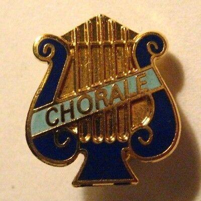 School Chorale Lapel Pin - Band Lyre Harp Choir Music Letterman Jacket Badge Pin