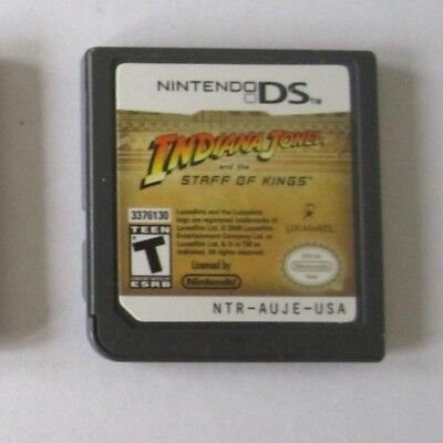 Indiana Jones and the Staff of Kings (Nintendo DS, 2009) Video Game - USA Versio