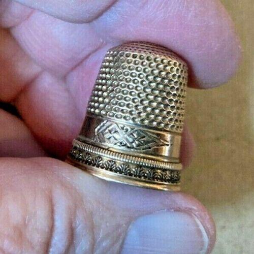 14k Gold Antique Thimble Excellent Condition No Mono BIN