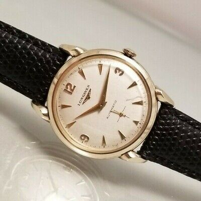 LONGINES  VINTAGE CAL. 22A AUTOMATIC  10K GOLD FILLED CLAW LUGS WATCH 1952