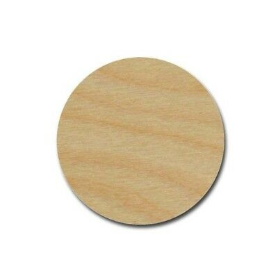 Circle Shape Unfinished Wood Craft Cutouts Laser Cut Discs DIY Variety Of Sizes