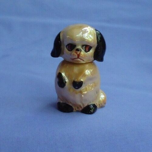 ART DECO CAVALIER KING CHARLES PERFUME BOTTLE GERMANY GOLD LUSTER DOG