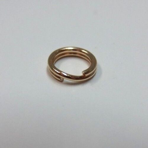 14k Yellow Gold Split Ring Jump Ring Clasp Charm Attacher 14K Solid Gold 4.9 mm