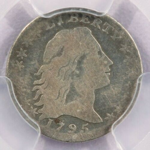 1795 Flowing hair half dime PCGS VG Details Cleaned Nice looking coin! Strong VG