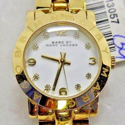 """Marc By Marc Jacobs MBM3057 Women's Gold Tone Analog Watch Size 5 3/4"""" Used"""