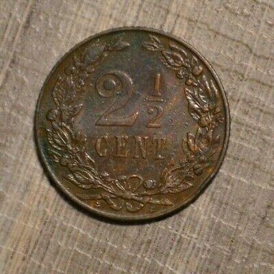 Netherlands 2 1/2 cents 1905