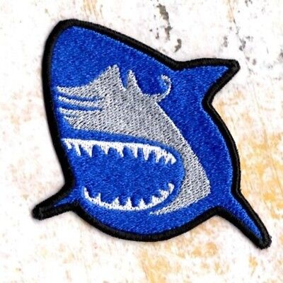 Shark Patch Iron to Sew on Patch Badge