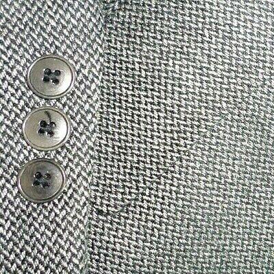 PRINGLE OF SCOTLAND mens CASHMERE sport coat GRAY HERRINGBONE 44R 44 e54 - NEW