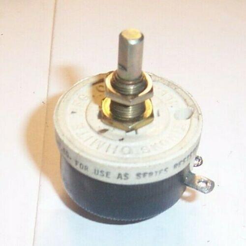 (1) Ohmite RHS25R Rheostat / Panel Mounting Potentiometer 25ohm 25Watt