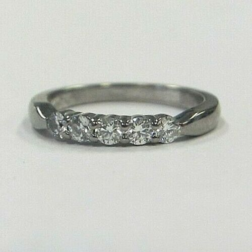 HEARTS ON FIRE FIVE DIAMOND BAND, 0.33 TCW, 18K GOLD, FREE SHIPPING! MSRP $2250