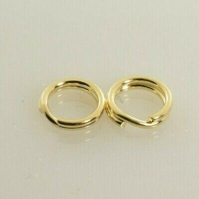 - Slide Bracelet Round Split Ring Jump Ring 14k Yellow Gold - Set of 2