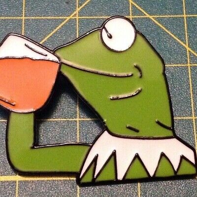 Kermit the frog enamel pin - what's the tea enamel pin