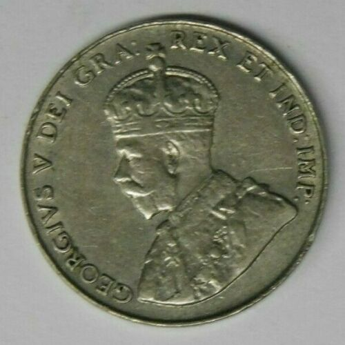 Canada George V 1922 Far Rim Five Cents -  Extra Fine EF Condition