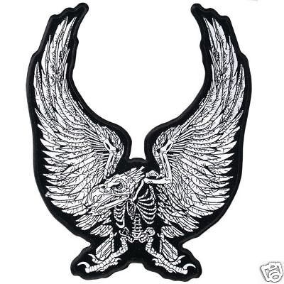 Eagle Skeleton Patch  11 inch