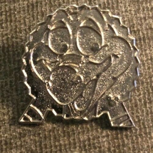 DISNEY TRADING PIN - FIGMENT THE DRAGON ON THE EPCOT BALL SILVER CHASER PIN
