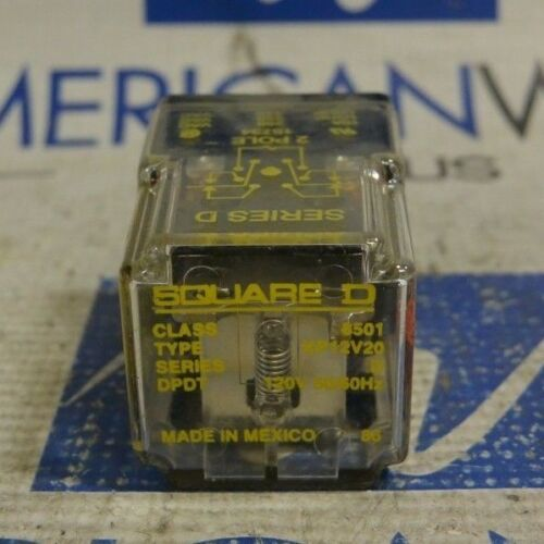 Square D 8501KP12V20 Series D 120V 50/60Hz Ice Cube Relay
