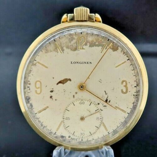 Antique 17L Longines 17J Manual Wind Pocket Watch 10k Gold Filled 2313-37/9 Runs