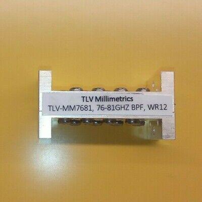 76-82ghz Wr12 Waveguide Bpf Automotive Radar Band Tlv Millimetrics Tlvmm7681