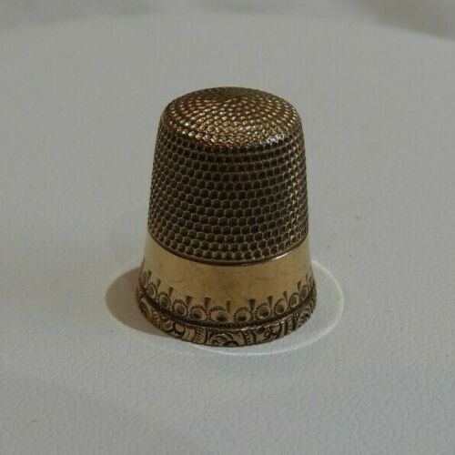 Vintage 10K Yellow Gold Sewing Thimble