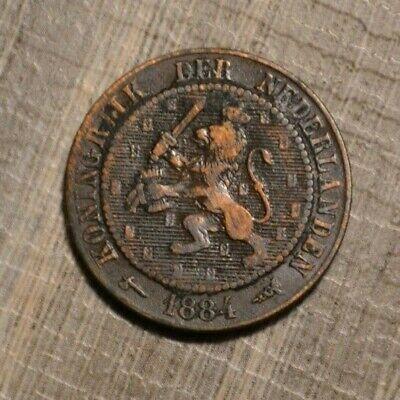 Netherlands 2 1/2 cents 1884