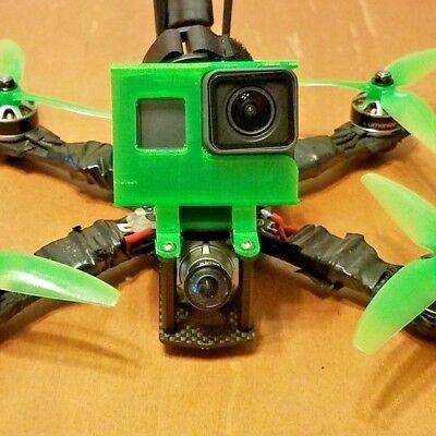 Martian II 220 & 250 Gopro Hero 5 -6 & 7 mount session Fpv Drone ALIEN Case 3D