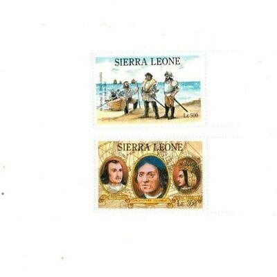 VINTAGE CLASSICS - Sierra Leone 1525-6 Columbus - Set Of 2 -MNH