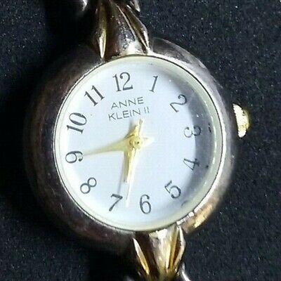 ANNE KLEIN II Women's Silver & Gold Tone Watch 10/2858-9 NEW BATTERY