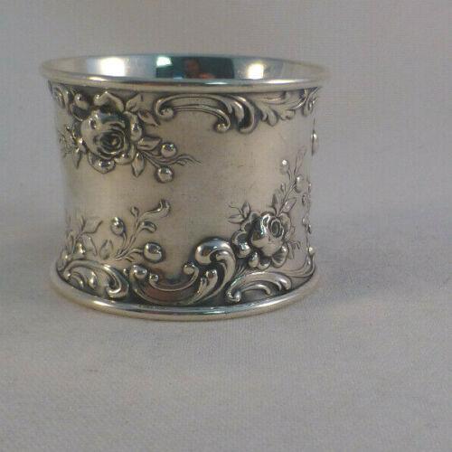 "Rose Scroll by Gorham Sterling Large Napkin Ring-1 3/8"""