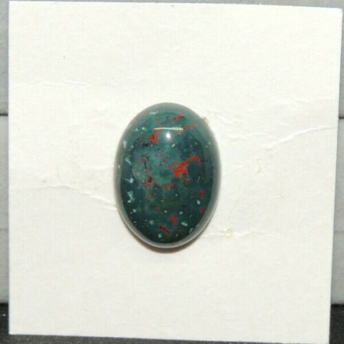 Bloodstone Cabochon 18x13mm with 5.5mm dome from India  (14779)