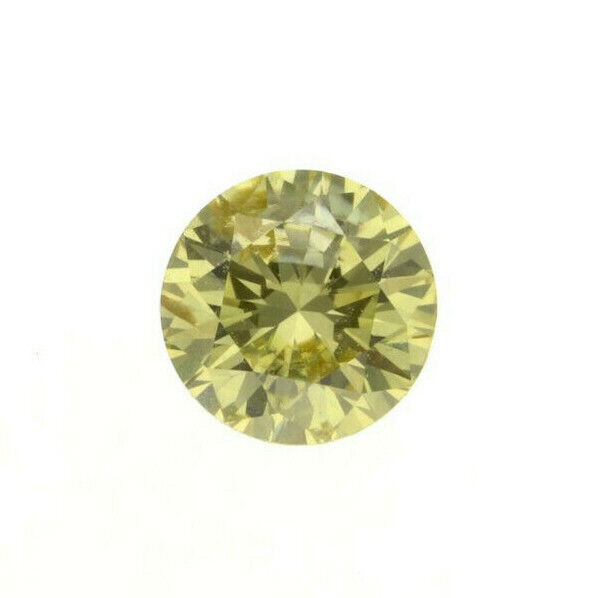 Fancy Brown Green Yellow Natural Loose Diamond 0.19 Cts Round Color GIA Cert