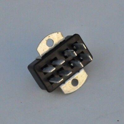 Nos Cinch Jones Male Socket Panel Mount 250v 8 Pin Connector