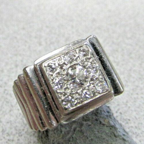 Stunning Unisex Vs1-g Diamond Ring 14k White Gold For Man Or Woman Make Offer