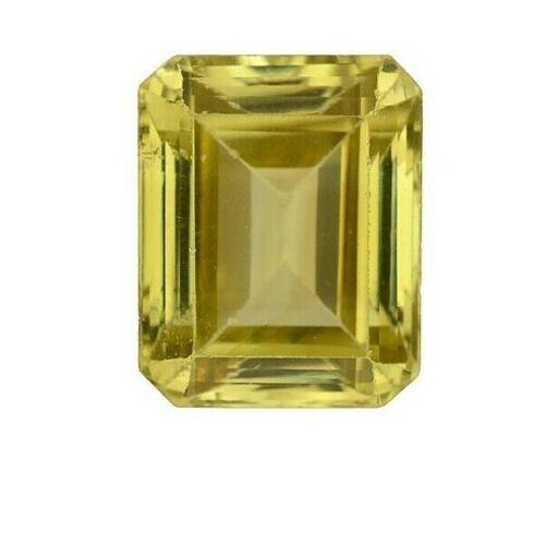 GIA CERTIFIED NATURAL NO HEAT Greenish Yellow Chrysoberyl Octagonal 4.90 CT