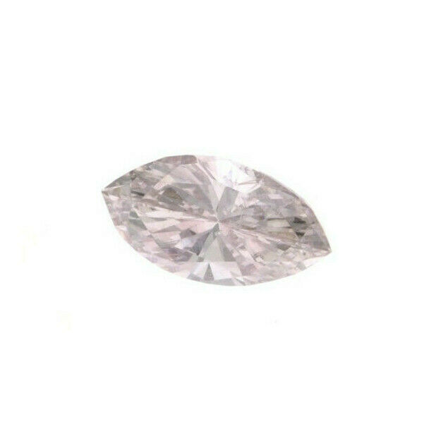 Faint Pink Natural Loose Diamond 0.10 Cts Marquise Color GIA Certified