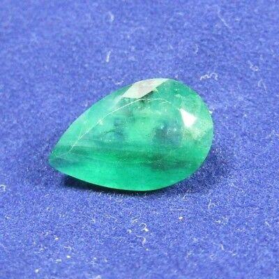 Certified 2.89ct Pear Cut Emerald.