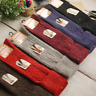5 Pairs Womens Wool Cashmere Knee-High Thick Warm Design Solid Winter Boot Socks