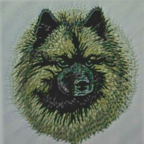 Keeshond Dog Breed Bathroom SET OF 2 HAND TOWELS EMBROIDERED