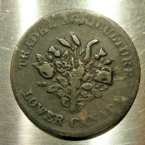 BANK OF MONTREAL TRADE & AGRICULTURE UN SOUS COPPER TOKEN 1830