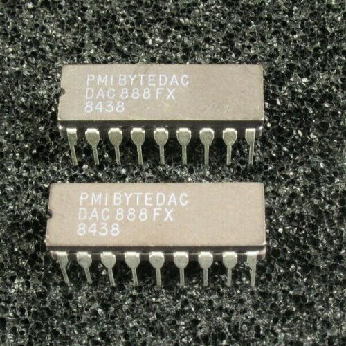 TWO! PMI ByteDac DAC888FX D/A Converter CDIP18.