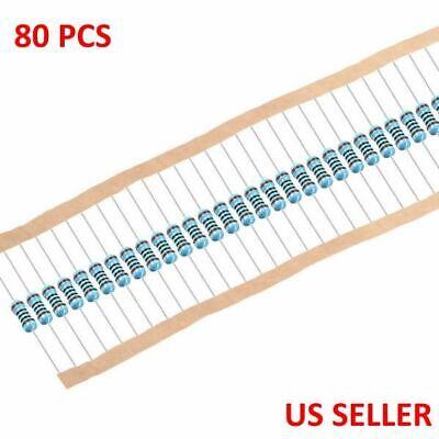 14w .25 Watt 1 Tolerance Metal Film Resistor 80 Pieces Usa Top Seller