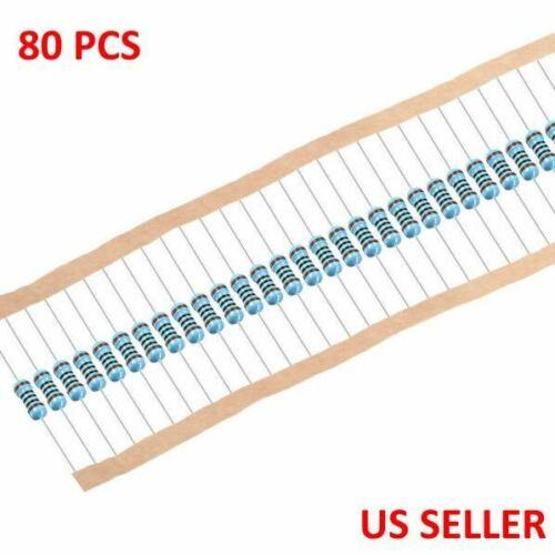 1/4W .25 Watt 1% Tolerance Metal Film Resistor 80 Pieces USA TOP SELLER