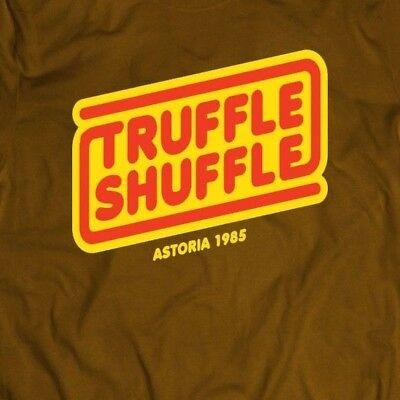 GOONIES TRUFFLE SHUFFLE OLDSKOOL MOVIE T-SHIRT FULL FRONT OF SHIRT** ()