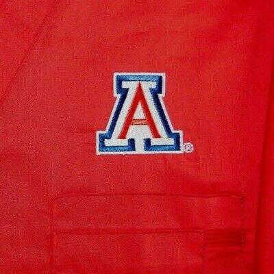ARIZONA WILDCATS Red V Neck Scrub Top NWT Size S  P#1150  (Arizona Scrubs)